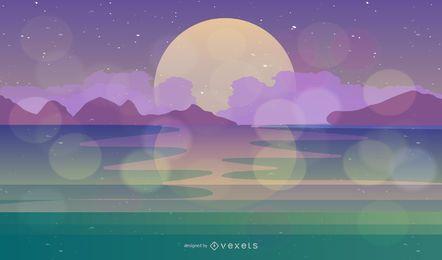 Dreamy Scene Landscape Illustration