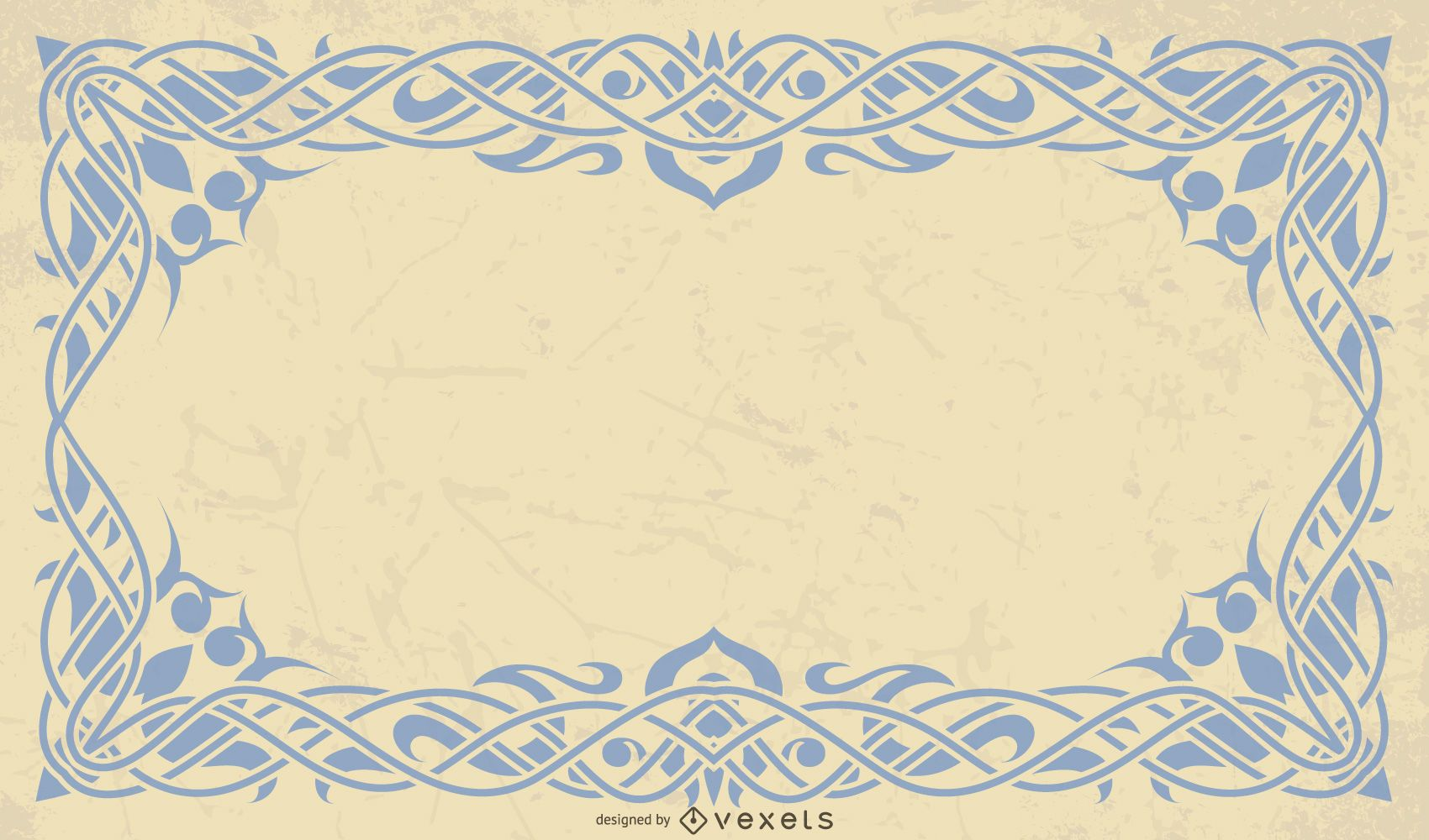 Diseño de fondo de marco retro vintage clásico