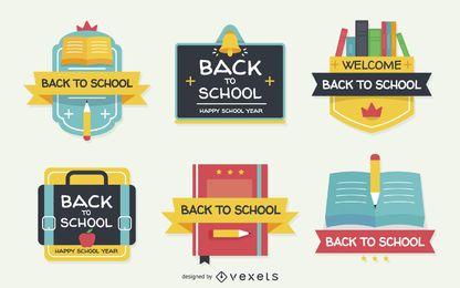 Flat zurück zu den Schuletiketten