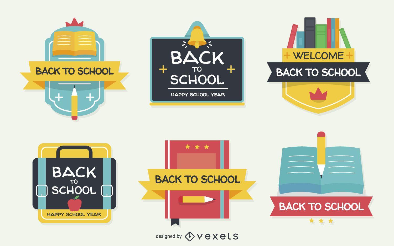 Flat zurück zu Schuletiketten
