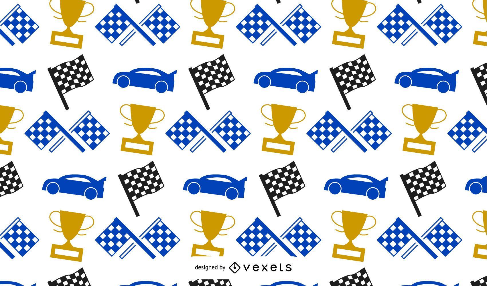 Racing Elements Pattern Design