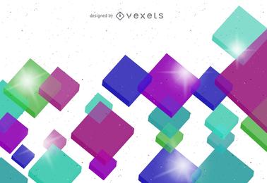 Vector colorido cubo