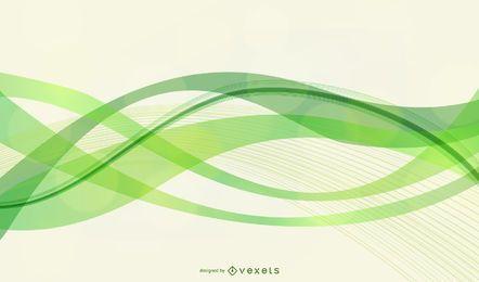 Vektor glatt grün