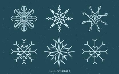 Fondo de elemento de copo de nieve