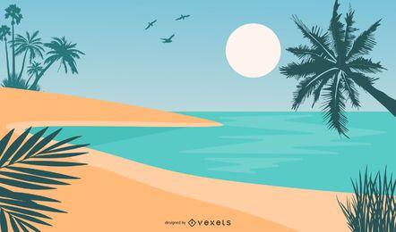 Sommer Strand Hintergrund