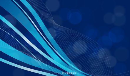 Blue wavy background with lines