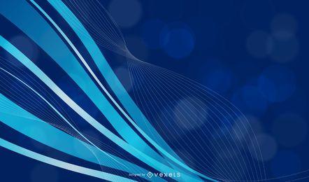 Fondo ondulado azul con lineas