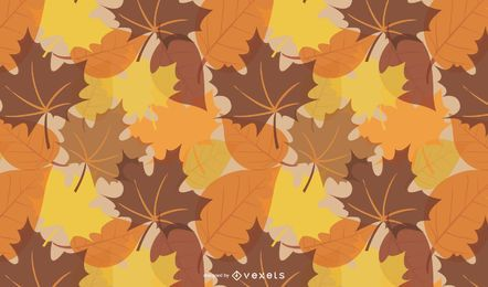Fall Leaves Pattern Background