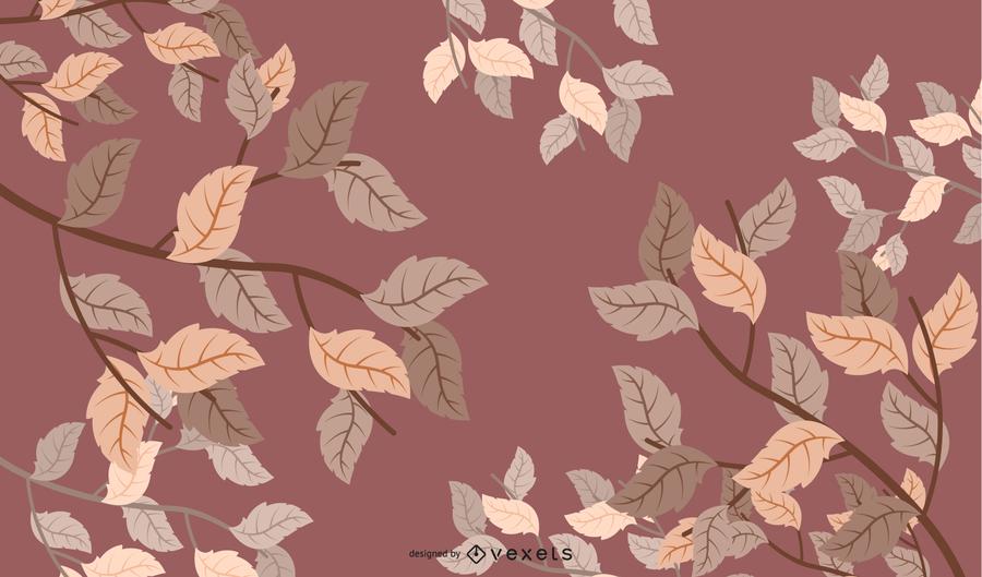 Marco de fondo de hojas de otoño