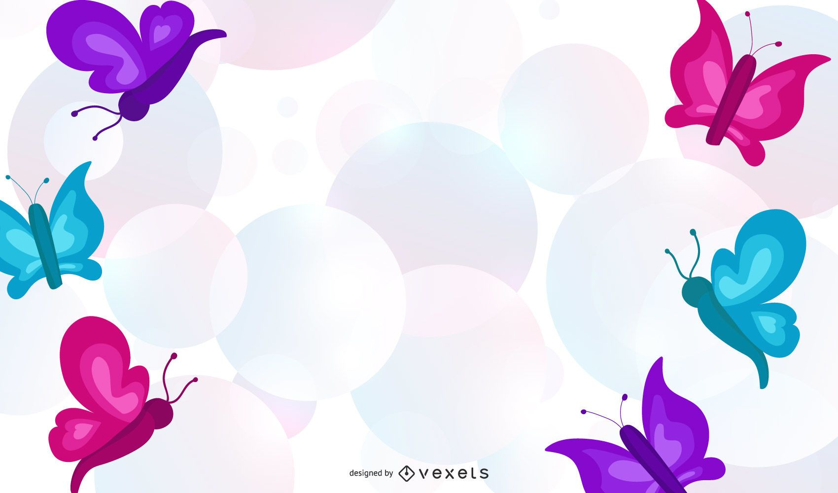 Abstract Butterfly Background Design