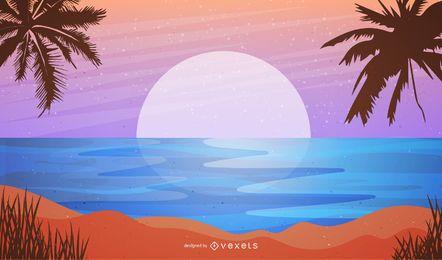 Fundo de praia de verão 2