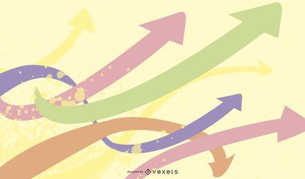 Flecha de color de fondo