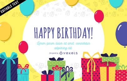 Tarjeta de cumpleaños o banner