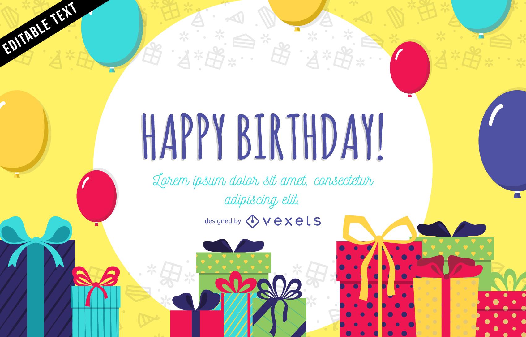 Banner Feliz Aniversario: Cartão De Aniversário Ou Banner