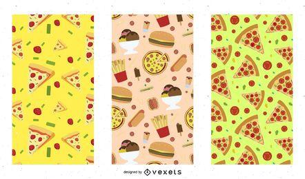 Pizza Muster Design Set