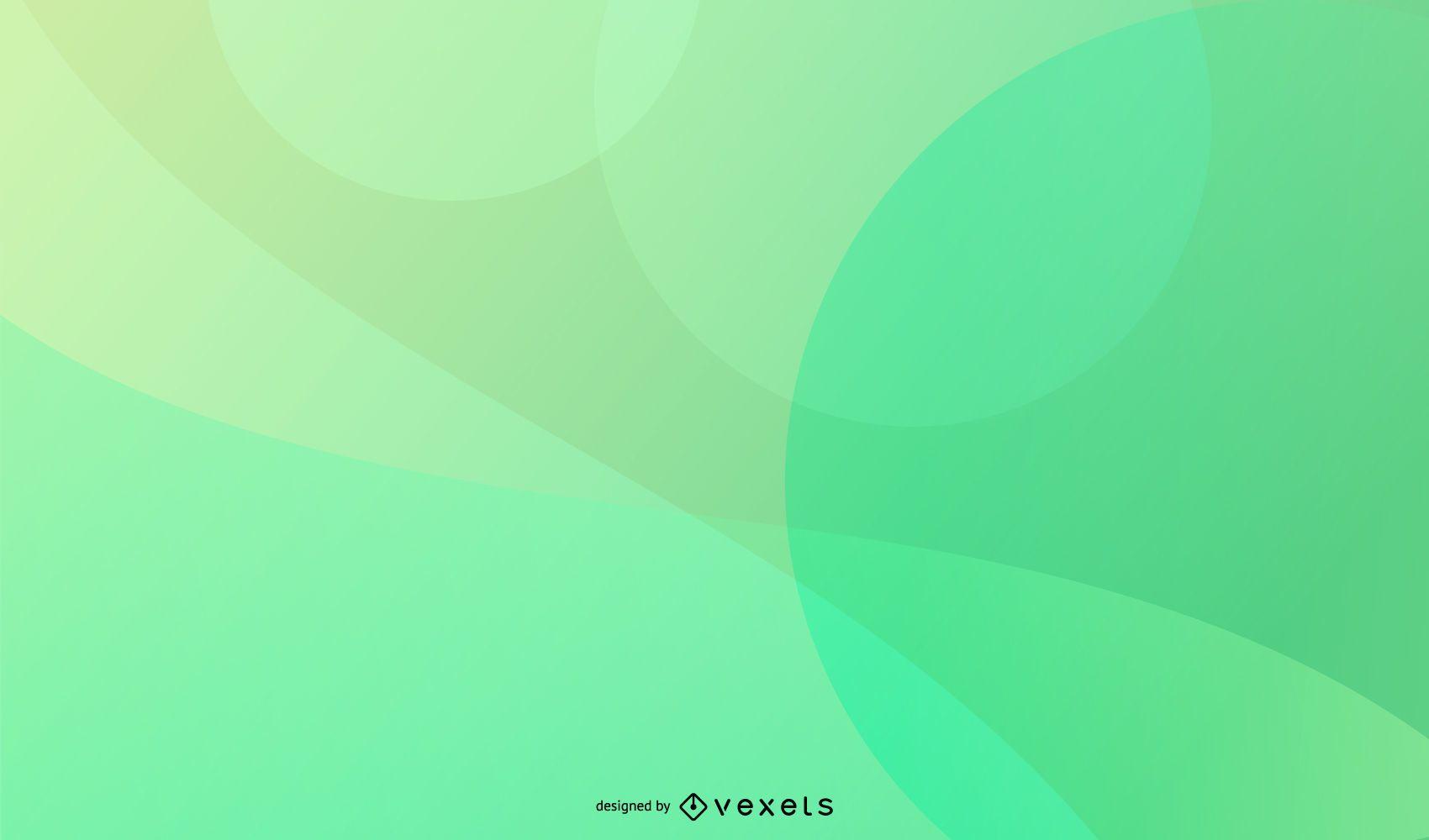 Diseño de fondo verde suave