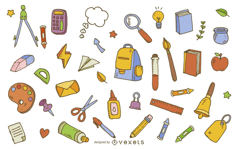 School supplies element pattern