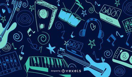 Fundo Colorido De Música