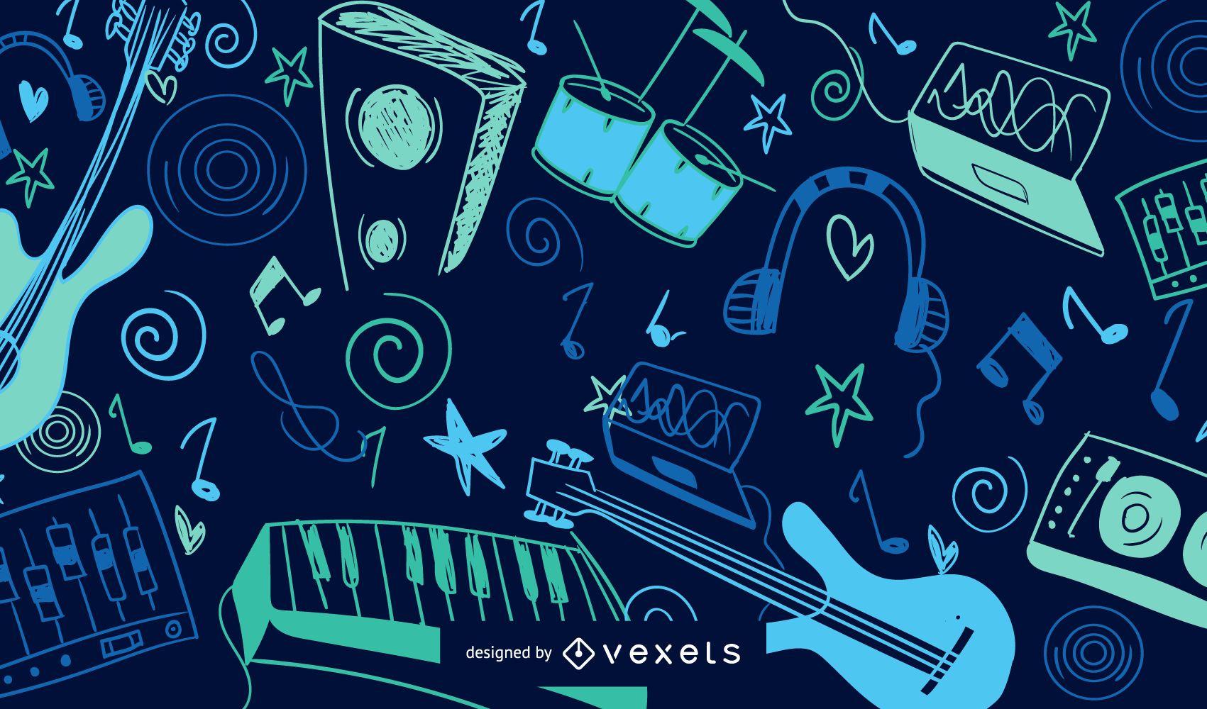 Fondo Colorido De La Música - Descargar Vector