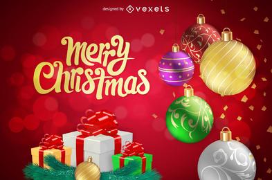 Fondo de Navidad vector 3