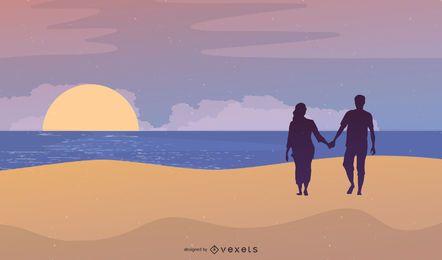 Fondo de playa de verano 3