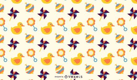 Cute Cartoon Toys Pattern Background