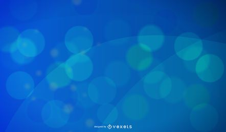 Abstract blue design with circles and waves