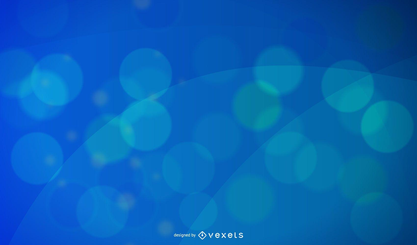 Fondo de pantalla abstracto azul bokeh