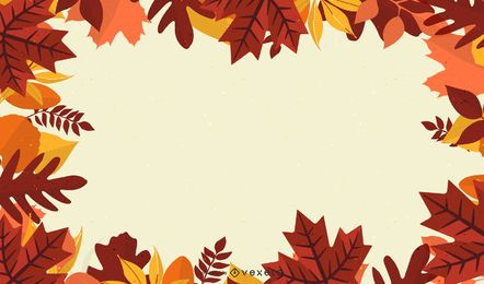 maple leaves frame illustration