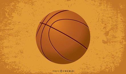 ilustración de baloncesto clásico