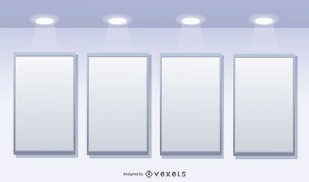 Galería de fondo de visualización 3