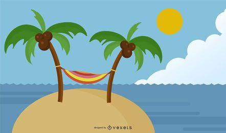 Fondo de playa de verano 4