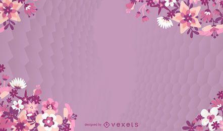 Flor rosa fundo