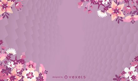 Flower Violet Background