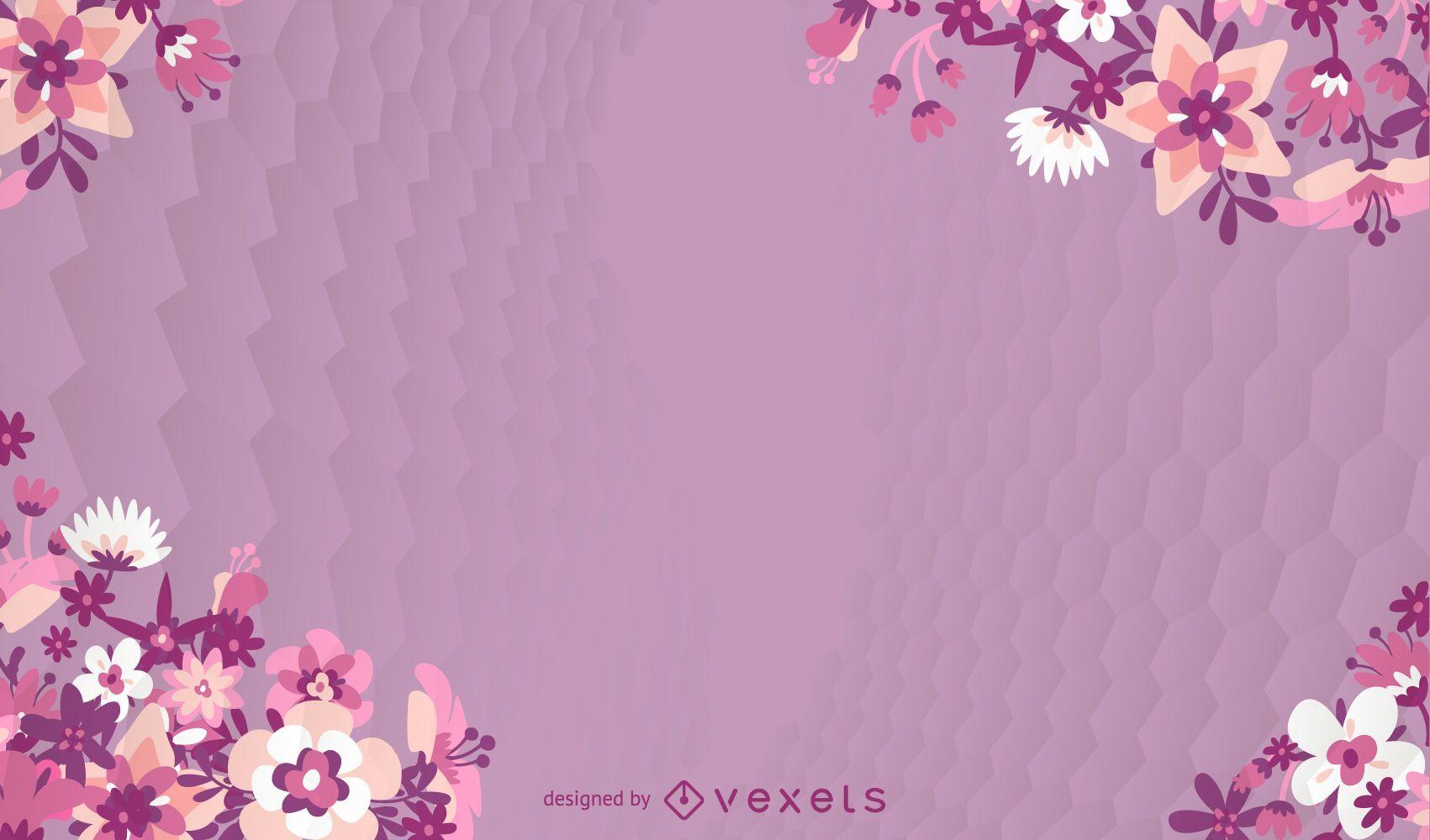 Flower Violet Background Vector Download