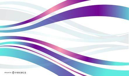 Fondo ondulado colorido