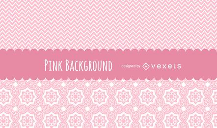 Fondo lindo de patrones de color rosa