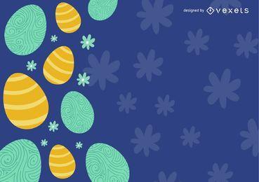 Huevos de Pascua decorados con flores.