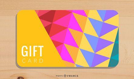 Diseño de fondo de tarjeta de regalo