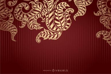 Königliches Rot und Goldhintergrund