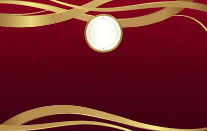 Einfacher Luxushintergrund in Rot und Gold