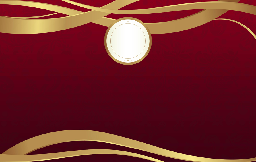 Cenário de luxo simples em vermelho e dourado