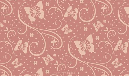 Seamless Purple Butterfly Silhouette Design