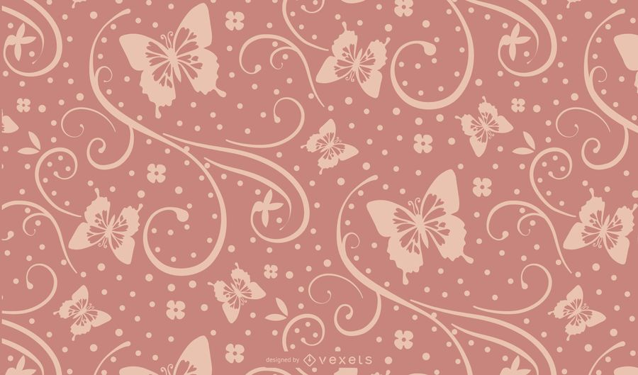 Seamless Purple Butterfly Silhouette Design