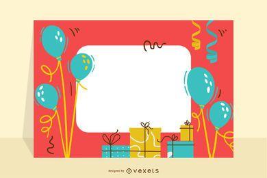 Geburtstagskarte mit Ballons