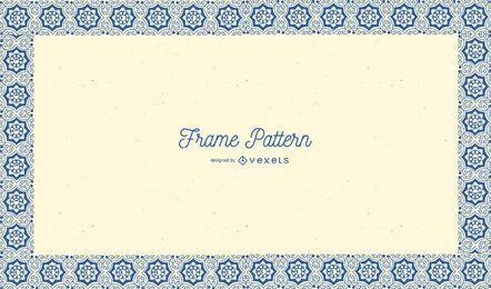 Arabic Floral Pattern Frame