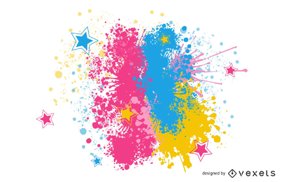 Bright paint splatter clipart
