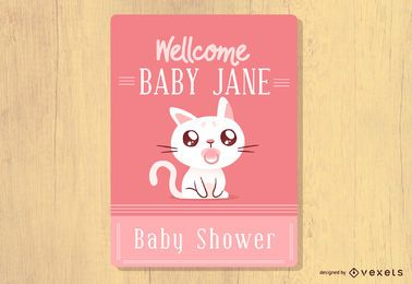 Baby Shower Cat Design