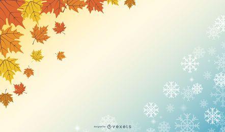 Beautiful autumn and winter design