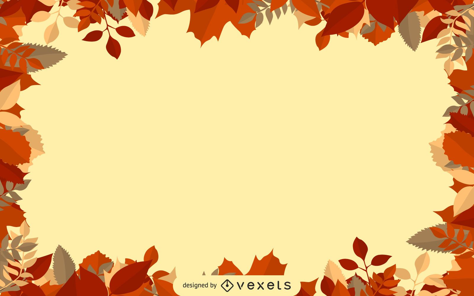 Fall Maple Leaf Frame Background